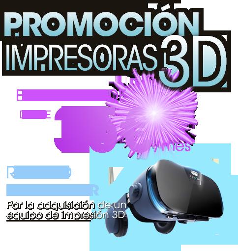 Promoción impresoras 3d REGALO
